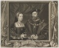 Mary Tudor; Charles Brandon, 1st Duke of Suffolk, by George Vertue, after  Unknown artist - NPG D40895