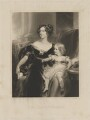 Harriet Elizabeth Georgiana Leveson-Gower, Duchess of Sutherland; Elizabeth Georgiana, Duchess of Argyll, by George Henry Phillips, published by  Graves & Warmsley, after  Sir Thomas Lawrence - NPG D40930