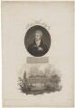 George Shaw with 'Back View of the British Museum', by William Holl Sr, after  John Russell, and by  E.W. Thomson, published by  Robert John Thornton - NPG D40680