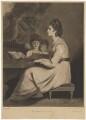 Elizabeth Ann Sheridan (née Linley) as St Cecilia, by William Dickinson, after  Sir Joshua Reynolds - NPG D40701
