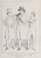 The Three and the Deuse (John Lawless; Daniel O'Connell; Richard Lalor Sheil), by John ('HB') Doyle, published by  Thomas McLean - NPG D40943