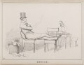 Repose (Arthur Wellesley, Duke of Wellington and an unknown man), by John ('HB') Doyle - NPG D40949