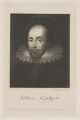 Unknown gentleman, possibly Sir Thomas Overbury, previously known as William Shakespeare, by Robert Cooper, published by  Sherwood, Jones & Co, after  Richard Earlom, after  Unknown Anglo-Netherlandish artist - NPG D41649