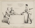 A Very Pertinent Question (Arthur Wellesley, 1st Duke of Wellington; Sir Robert Peel, 2nd Bt; John Liston), by John ('HB') Doyle, published by  Thomas McLean - NPG D40989