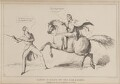 Danger of Riding on Too High a Horse (Ulick de Burgh, 1st Marquess of Clanricarde; Arthur Wellesley, 1st Duke of Wellington), by John ('HB') Doyle, printed by  Charles Etienne Pierre Motte, published by  Thomas McLean - NPG D41007