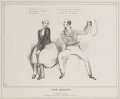 The Coquet or A Political Courtship (Henry Brougham, 1st Baron Brougham and Vaux; Charles Grey, 2nd Earl Grey), by John ('HB') Doyle, published by  Thomas McLean - NPG D41027