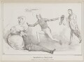 Sampson and Dalilah, by John ('HB') Doyle, published by  Charles Etienne Pierre Motte, after  Thomas McLean - NPG D41029