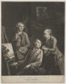 'The Three Smiths; Brothers, and Painters', by and published by William Pether, sold by  William Pether - NPG D41736
