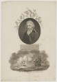Sir James Edward Smith with 'The Pursuit of the Shop containing the Linnaean Collection', by William Ridley, published by  Robert John Thornton, after  John Russell - NPG D41751