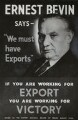 Poster for the Export Council of the Board of Trade (Ernest Bevin), by Unknown photographer, for  Evening Standard - NPG x134936