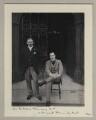Sir James Fortescue-Flannery, 1st Bt; Sir Ernest Francis Swan Flower, by Benjamin Stone - NPG x134987