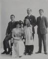 Baron Hardinge of Penshurst and family, possibly by Rita Martin - NPG x134957