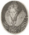 Queen Elizabeth I, by Simon de Passe, after  Isaac Oliver - NPG D42191
