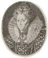 Queen Elizabeth I, by Simon de Passe, after  Isaac Oliver - NPG D42191