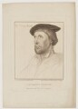 Sir Thomas Lestrange, by Francesco Bartolozzi, published by  John Chamberlaine, after  Hans Holbein the Younger - NPG D42118