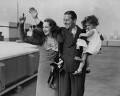 Bebe Daniels (Phyllis Virginia Daniels); Ben Lyon; Barbara Lyon, by Edward George W. Malindine, for  Daily Herald - NPG x135040