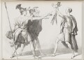 Swearing of the Horatii, by John ('HB') Doyle, printed by  Alfred Ducôte, published by  Thomas McLean - NPG D41126