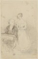 Two unknown sitters, probably by Sir William Charles Ross - NPG D42216