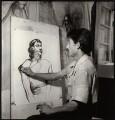 'Armenian artist sketching Ida Kar', by Ida Kar - NPG x135152