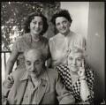 Bella Isahakyan; Avetik Sahak Isahakyan; Sophie Isahakyan and an unknown woman, by Ida Kar - NPG x135165