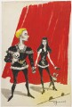 Laurence Kerr Olivier, Baron Olivier as Hamlet; Vivien Leigh, by Anthony Wysard - NPG D291