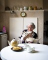 Judith Kerr with her cat Katinka, by Sam Pelly - NPG x135287