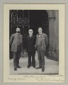 Samuel George Hobson; John Elliott Burns; Clarence Seward Darrow, by Sir (John) Benjamin Stone - NPG x135313