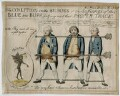 The Coalition in the Bilboes or the Sufferings of the Blue & Buff, for Going Out of their Proper Track, by Unknown artist - NPG D42235