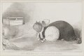 The Exeter Cat and the Plymouth Mouse (John Russell, 1st Earl Russell; Henry Phillpotts), by John ('HB') Doyle, printed by  Alfred Ducôte, published by  Thomas McLean - NPG D41229