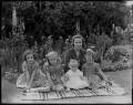Sybil (née Johnson), Countess Howe with family, by Bassano Ltd - NPG x77966
