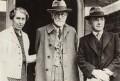 Mathilde Hollitscher (née Freud); Sigmund Freud; Alfred Ernest Jones, by Unknown photographer, for  International News Photos - NPG x135930