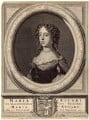 Queen Mary II, by Philibert or Filibert Bouttats, published by  Nicolaes Visscher II, after  David van der Plas - NPG D42304