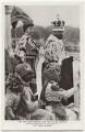 'T.M. the King-Emperor and the Queen-Empress showing themselves to the people at the Delhi Durbar', by Unknown photographer, for  Illustrations Bureau - NPG x135945
