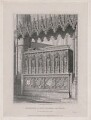 Monument of King Edward the Third in Westminster Abbey (King Edward III), by Edward Blore - NPG D42327