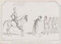 Don Quixote about to Liberate the Galley Slaves, by John ('HB') Doyle, printed by  Alfred Ducôte, published by  Thomas McLean - NPG D41358