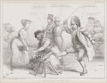 A Regular Kick-up!, by John ('HB') Doyle, printed by  Alfred Ducôte, published by  Thomas McLean - NPG D41361