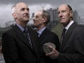 Sir David Hartmann Higgins; Ian Galloway; Sir John Alexander Armitt, by Brian Griffin - NPG P1719