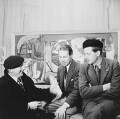 William Gear; Louis Le Brocquy; (George) Peter Lanyon, by Elsbeth R. Juda - NPG x136296