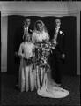 Wedding of Prince Louis von Schönburg-Hartenstein and Princess Dilys Schonburg-Hartenstein (née Marten), by Bassano Ltd - NPG x158256