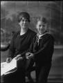Olwen Verena (née Ponsonby), Lady Oranmore and Browne; Hon. Geoffrey Charles Myles Browne, by Bassano Ltd - NPG x158287