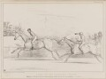 A Race for the Westminster Stakes, by John ('HB') Doyle, printed by  Alfred Ducôte, published by  Thomas McLean - NPG D41419