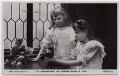 (Victoria Constance) Mary (née Cambridge), Duchess of Beaufort; Lady Helena Frances Augusta Gibbs (née Princess of Teck), by Speaight Ltd, published by  Rotary Photographic Co Ltd - NPG x136530
