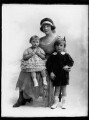 Gwladys (née Sutherst), Marchioness Townshend with her children, by Bassano Ltd - NPG x158477