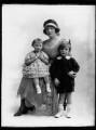 Gwladys (née Sutherst), Marchioness Townshend with her children, by Bassano Ltd - NPG x158477