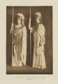 Lady (Mabel) Cynthia Graham (née Duncombe) and Lady (Gladys Mary) Juliet Duff (née Lowther) as Amazons, by Langfier Ltd, published by  Hudson & Kearns Ltd - NPG Ax135777