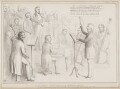 Ancient Concerts - A Rehearsal, by John ('HB') Doyle, printed by  Alfred Ducôte, published by  Thomas McLean - NPG D41472