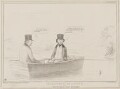Im:Patience in a Punt (Charles Phillips; Henry Brougham, 1st Baron Brougham and Vaux), by John ('HB') Doyle, printed by  Alfred Ducôte, published by  Thomas McLean - NPG D41482