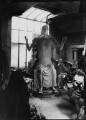 Sir Jacob Epstein with plaster of 'Social Consciousness', by Ida Kar - NPG x136748