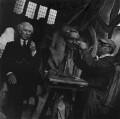 Bertrand Arthur William Russell, 3rd Earl Russell; Jacob Epstein, by Ida Kar - NPG x136750