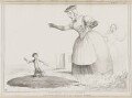 Gulliver and his Nurse (William Lamb, 2nd Viscount Melbourne; Arthur Wellesley, 1st Duke of Wellington; Queen Victoria), by John ('HB') Doyle, printed by  Alfred Ducôte, published by  Thomas McLean - NPG D41529